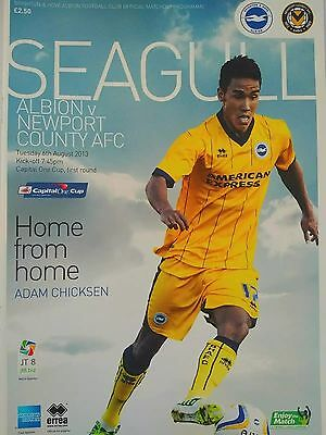Brighton & Hove Albion v Newport County Capital One Cup 6/8/2013 Mint