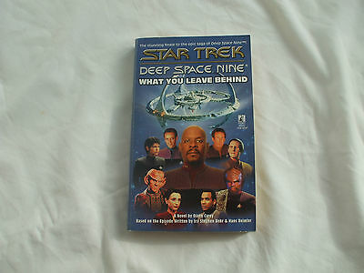 Star Trek Deep Space Nine What You Leave Behind Softcover Paperback Book