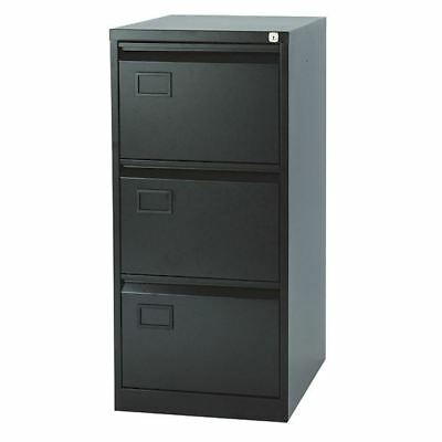 Jemini 3 Drawer Filing Cabinet Black, 470x622x1016mm [KF72586]
