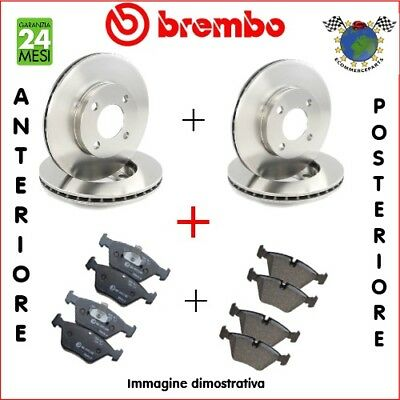 Kit Dischi e Pastiglie freno Ant+Post Brembo FORD FOCUS blj