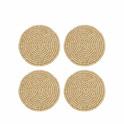 Home Collection Pack Of 4 Beige Wooden Beaded Coasters From Debenhams