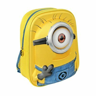 Childrens - Despicable Me Minions 3D Backpack School Bag