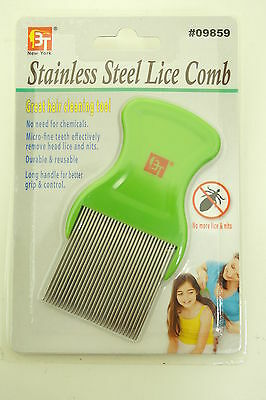Stainless Steel Lice Comb Great Hair Cleaning Tool Micro Fine Teeth