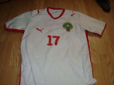 maillot foot maroc chamakh 17   taille m-l