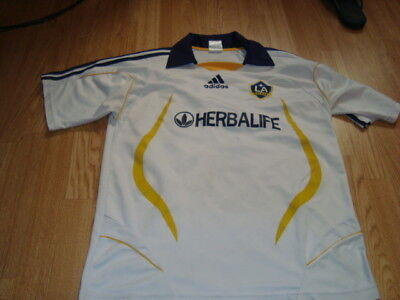 maillot foot los angeles galaxy beckham 23 taille m-l