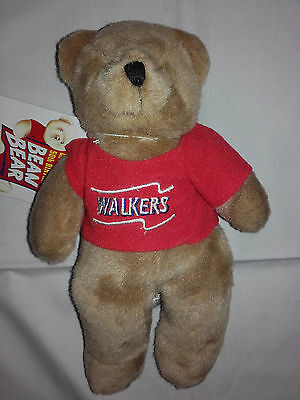 Walkers Bean Bear - Limited Edition 50th Birthday - 9 inches High - Elastic Tag