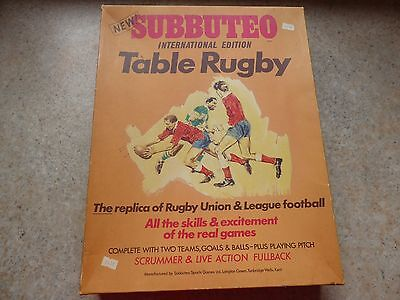 Vintage Subbuteo Table Rugby, (International Edition) 1970s see pic
