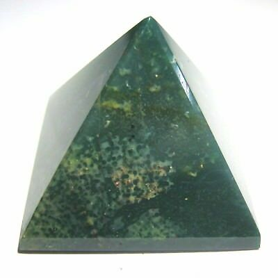 Natural 27 grams Bloodstone pyramid crystal healing reiki feng shui gift energy