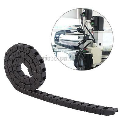"""1m Long Cable Drag Chain Wire Carrier 10x10mm 40"""" for 3D Printer CNC Router"""