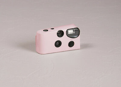 Disposable Cameras with Flash Pastel Pink Favour Party Accessory 10 Pack