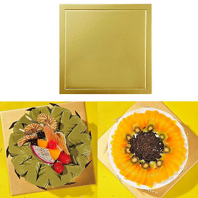 5PCS Square Cake Boards 8inch 10inch Decor Display Wedding Birthday Party Gold