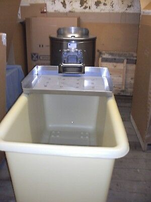 Potato Peeler Tank with Stainless steel tray holds 14 bag of potato's