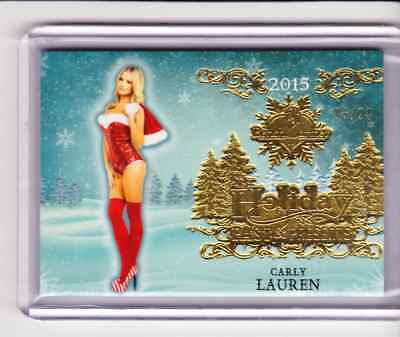 2015 Bench Warmer Holiday Past & Presents CARLY LAUREN #6 Premium Base 05/24