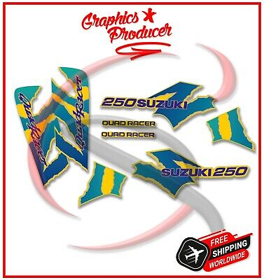 Suzuki LT250R Quadracer Decals Replica Full Set Graphics Sticker 85-92 Model