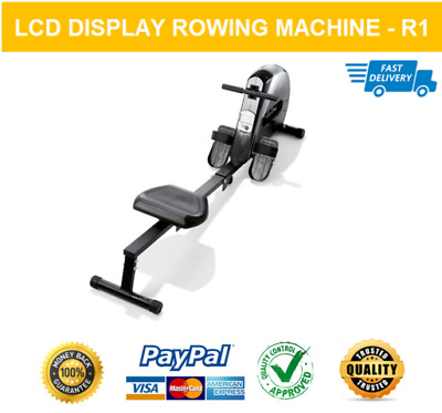 Rowing Machine Exercise Fitness Sports Home Gym Rower R-1 Lcd Display System