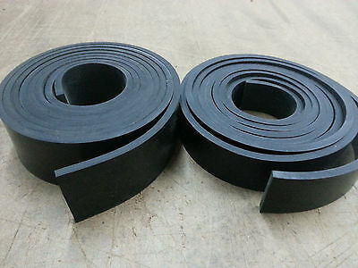 "NEOPRENE RUBBER ROLL 1/8 THK X 2"" WIDE x10 ft LONG  60 DURO +/-5 FREE SHIPPING"