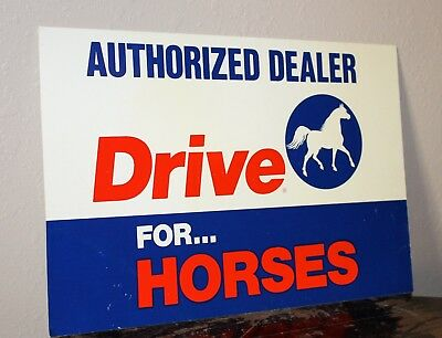 DRIVE For HORSES DEALERSHIP Sign - Odon Indinia, Farming, Horses, Race Horses