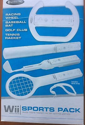 Wii Sports  accessory pack  - tennis golf etc + wheel