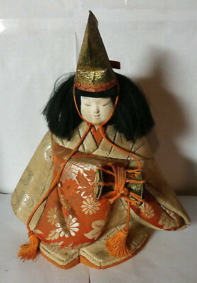 Vintage Japanese Doll With Drumm Possibly Gofun?