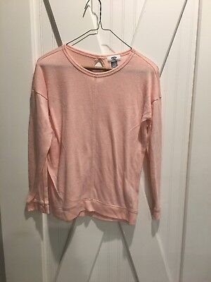 Girls Size L (10-12) Old Navy Pink Sweater in Good Condition