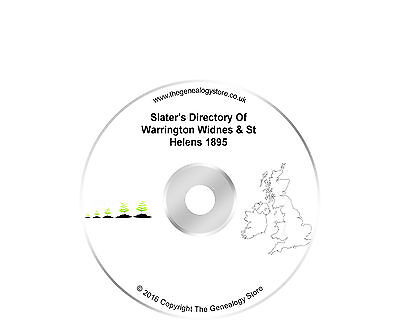 Slater's Directory Of Warrington Widnes & St Helens 1895