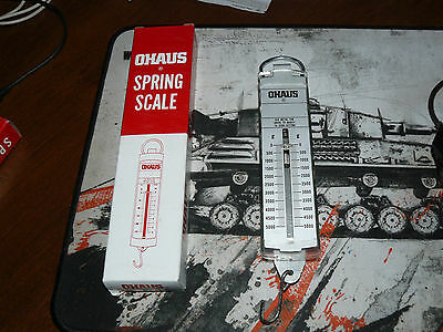 Ohaus Model 8008-M0 Pull-Type Spring Scale 0-5000 Grams New in Box