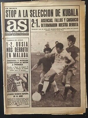UEFA Euro 1972 qualifying. URSS, 2 - Spain, 1.spanish sports newspaper