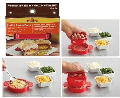 Mr Bar-B-Q Stuffed Burger Press BBQ Grill accessory