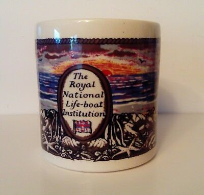 RARE Vintage RNLI Mug - Boncath Pottery Dorn Williams 1979 Autumn