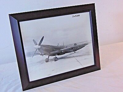 Vtg WWII Original British Supermarine Spitfire Fighter Aircraft B&W Photograph