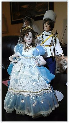 Cinderella and Prince Charming Collectibles Porcelain Dolls by Patricia Rose