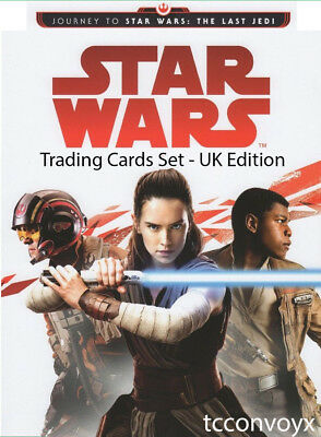 TOPPS UK 2017 JOURNEY TO STAR WARS THE LAST JEDI - FULL MASTER SET of 216 cards