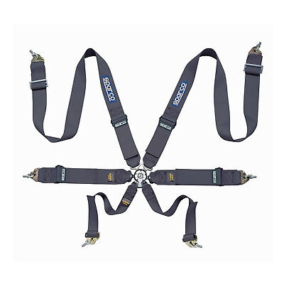 Sparco 6 - point Safety Belts, light, black