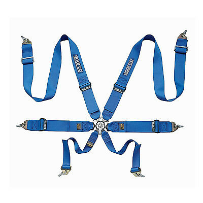Sparco 6 - point Safety Belts, light, blue