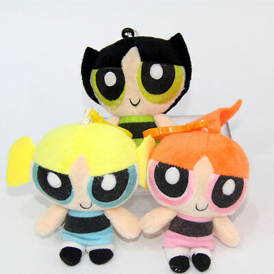 Cute 3PCS Powerpuff Girls Doll The 1999 Cartoon Network Plush Gift Kid Game Toy