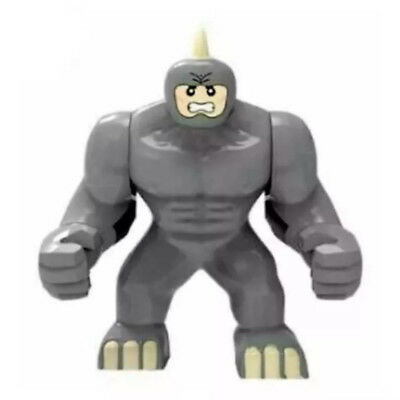 7.5cm Large Rhino Custom DC Marvel Super Hero Minifigure Fits with LEGO