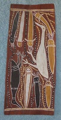 Old  Aboriginal Australian Bark Painting  Bought Outback Station Decades Ago   2