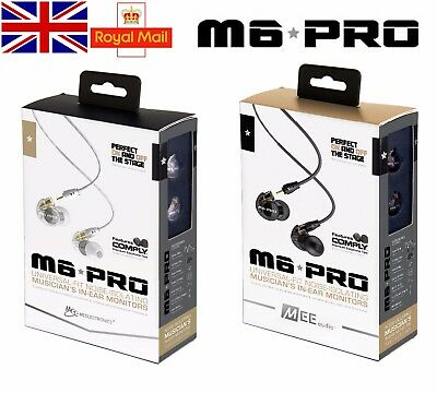 Genuine MEE M6 PRO Universal-Fit Earbuds Musician In-Ear Monitors Noise-Isolatin