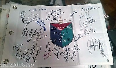 Golf Hall of Fame HOF Flag Nicklaus Palmer Player Mickelson 26 Autos