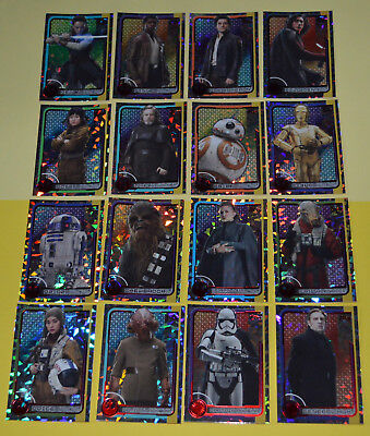 TOPPS STAR WARS JOURNEY TO THE LAST JEDI - complete 32 FOIL cards set only