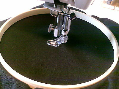 EMBROIDERY HOOP & FOOT FOR DOMESTIC SEWING MACHINES OLD & MODERN c/245