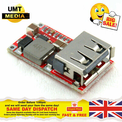 6-24V Input to 5V 2A Output USB Charger Module DC-DC Buck Step-Down Converter
