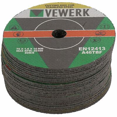 """3"""" Cutting Grinding Discs for Air Cut-off Tool Grinder Cutoff 25 PACK 75mm AT82"""