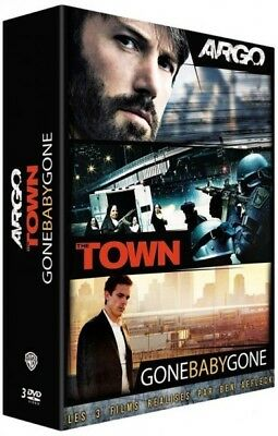 Argo + The Town + Gone Baby Gone Ben Affleck COFFRET DVD NEUF SOUS BLISTER