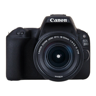 Canon EOS 200D with 18-55mm IS STM Lens Kit Black (Multi) Ship from EU garant