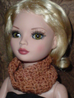Handcrafted Infinity Scarf  Tonner Ellowyne Amber Lizette  Soft Browns