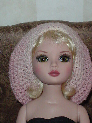 Handcrafted Slouch Doll Hat Tonner Ellowyne Amber Lizette  Dusty Pink