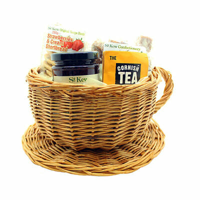 St Kew Cornish Teacup Afternoon Tea Hamper - Ideal for Christmas or Birthdays