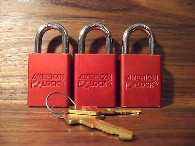 American Lock Series 1105 Padlock 3 locks KEYED ALIKE