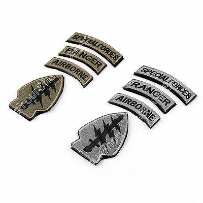 Special Forces & Airborne &Ranger Tabs Embroidered Hook& Loop PATCH